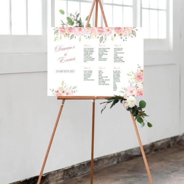 План рассадки гостей на свадьбу